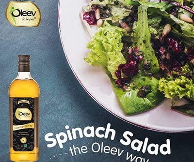 Oleev NUtty Spinach Salad